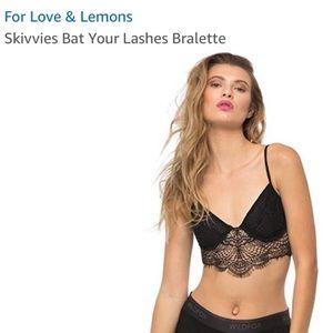 For love and lemons black bralette xs